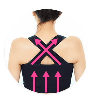 シンデレラマシュマロナイトブラで肩甲骨補正